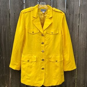 Bloomingdale's Vintage Yellow Blazer for Spring